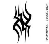 tribal tattoo vector designs... | Shutterstock .eps vector #1105601024