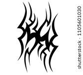 tribal tattoo vector designs... | Shutterstock .eps vector #1105601030
