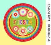 vector fiesta postcard with... | Shutterstock .eps vector #1105604939