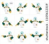 green white robot pointing... | Shutterstock .eps vector #1105612319