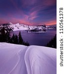 Winter Sunset At Crater Lake...