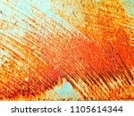rusted blue metal wall. rusty... | Shutterstock . vector #1105614344