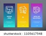 program coding  seo  digital... | Shutterstock .eps vector #1105617548
