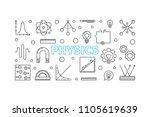 physics vector horizontal... | Shutterstock .eps vector #1105619639
