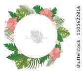 summer tropical wreath on a... | Shutterstock .eps vector #1105622816