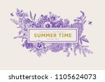 Summer Time. Vector Vintage...