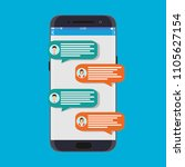 smartphone with messaging sms...