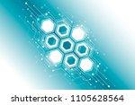 abstract hexagonal molecular...   Shutterstock .eps vector #1105628564