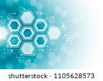 abstract hexagonal molecular... | Shutterstock .eps vector #1105628573