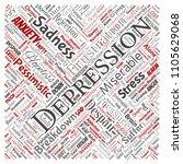 vector conceptual depression or ... | Shutterstock .eps vector #1105629068