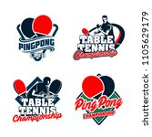 set of table tennis badges... | Shutterstock .eps vector #1105629179