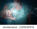 businesswoman on blurred... | Shutterstock . vector #1105630976