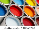 paint cans | Shutterstock . vector #110563268
