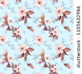 romantic seamless pattern with... | Shutterstock . vector #1105632986