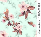romantic seamless pattern with...   Shutterstock . vector #1105632989
