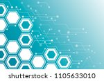virtual business concept. the... | Shutterstock .eps vector #1105633010