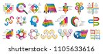 collection infographics. design ... | Shutterstock .eps vector #1105633616