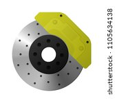 brake disc  caliper  pad... | Shutterstock .eps vector #1105634138