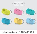 business thin line elements for ... | Shutterstock .eps vector #1105641929