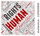 conceptual human rights... | Shutterstock . vector #1105650830