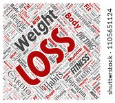 conceptual weight loss healthy... | Shutterstock . vector #1105651124