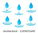 blue graphic water drops icons... | Shutterstock . vector #1105651640