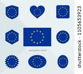 european union flag. european... | Shutterstock .eps vector #1105653923