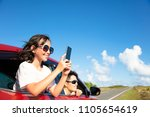 happy family enjoy road trip... | Shutterstock . vector #1105654619