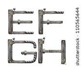 metal alphabet   Shutterstock . vector #110565644