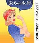 we can do it  design inspired... | Shutterstock .eps vector #1105657940