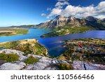 Waterton Lakes National Park in Canada seen from the Bears Hump