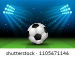 soccer stadium. football arena | Shutterstock . vector #1105671146