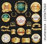 golden retro labels badges... | Shutterstock .eps vector #1105674263