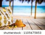 summer vacation   yellow... | Shutterstock . vector #1105675853