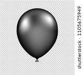black balloon isolated with... | Shutterstock .eps vector #1105675949