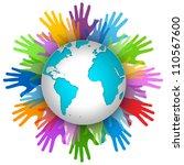 volunteer concept  many... | Shutterstock . vector #110567600
