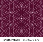 pattern with crossing thin... | Shutterstock .eps vector #1105677179