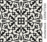pattern. abstract floral... | Shutterstock .eps vector #1105677233