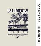california bikes palm beach t... | Shutterstock .eps vector #1105678820