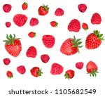 strawberry and raspberry... | Shutterstock . vector #1105682549