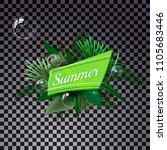 summer green typography... | Shutterstock .eps vector #1105683446