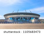 aerial view of the stadium... | Shutterstock . vector #1105683473