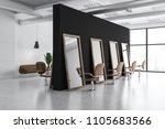 modern barber shop corner with... | Shutterstock . vector #1105683566