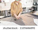 portrait of  female tailor... | Shutterstock . vector #1105686890