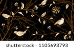 seamless pattern with tree... | Shutterstock .eps vector #1105693793