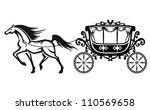 horse with vintage carriage for ...   Shutterstock .eps vector #110569658