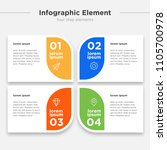 infographic element  four... | Shutterstock .eps vector #1105700978