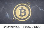 cryptocurrency stock chart on... | Shutterstock . vector #1105701320
