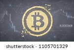 cryptocurrency stock chart on... | Shutterstock .eps vector #1105701329