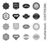 money back guarantee  vip ... | Shutterstock . vector #1105705286